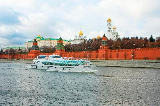 Radisson Royal Hotel Moscow: Radisson Royal Cruises right at the hotel's doorstep