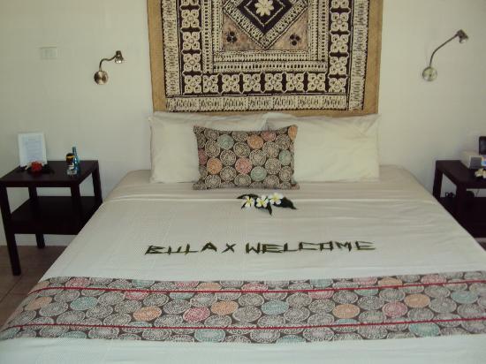 Malolo Lailai Island, Fiji: bedroom lagoon bure - fantastic and clean