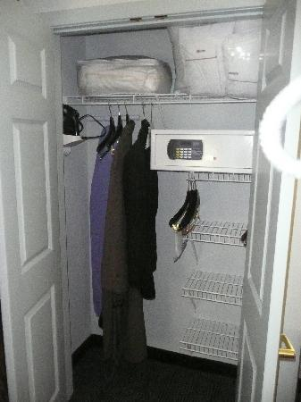 Holiday Inn Express & Suites Warminster - Horsham: Closet with safe, iron/ironing board and extra linens
