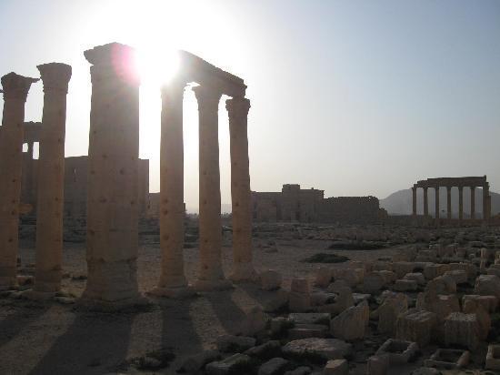Ishtar Hotel: palmyra winter sunset