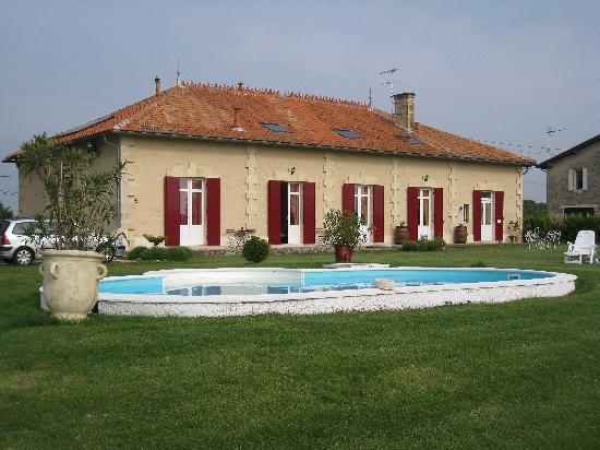 Domaine de Blaignac: vue de la maison