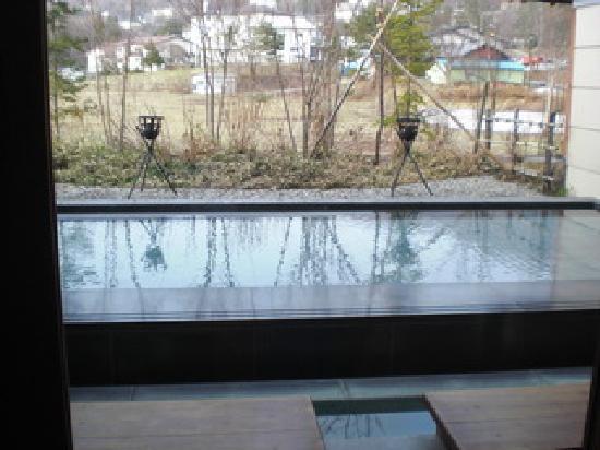 Zao Shiki no Hotel: 離れにある温泉の入り口付近