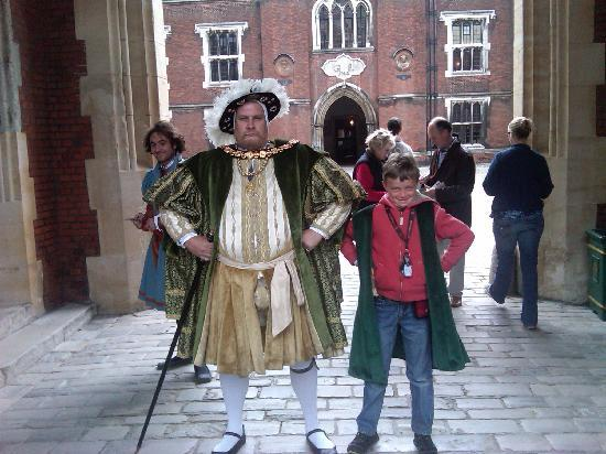 500 Yr Old King Henry Viii With 8 Yr Old Boy Picture Of Hampton Court Palace East Molesey