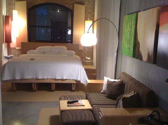NYLO Plano at Legacy: My sweet lofty room!