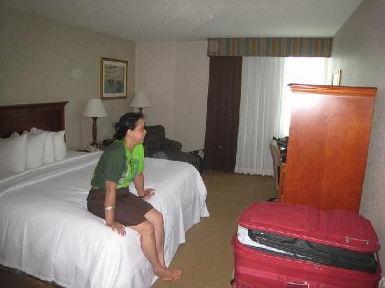 Ramada Jacksonville/Baymeadows: Room 106 was of good size with a window facing the parking area