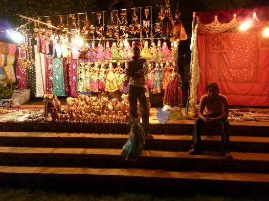 Heritage Village Club Goa : Market Stall during one of the hotels Gala Nights