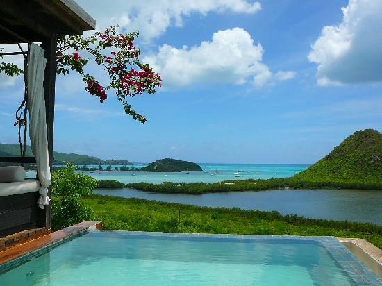 Hermitage Bay: View of our infinity plungepool