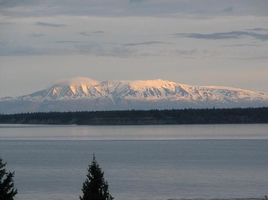 Susitna Place: Susitna Mountain from our deck