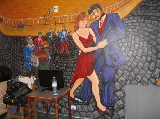 Ayres Portenos Tango Suites: The mural in my room.