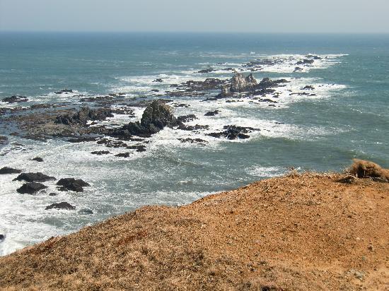 Cape Erimo: 岬から岩礁を見る