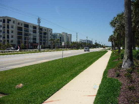 Oceanwalk Condominiums: South Atlantic Avenue, showing condos on the left.