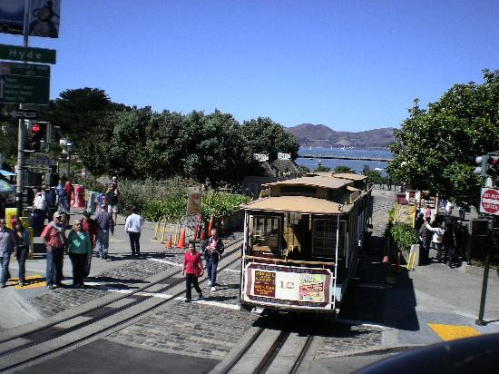 San Francisco, Californië: Tranvia en la calle Powel