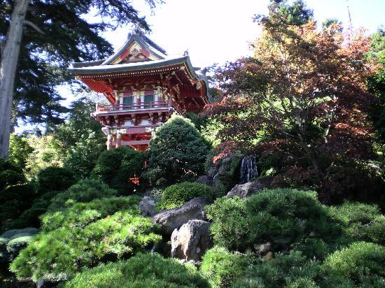 San Francisco, Californië: jardin japonés en el parque Golden Gate