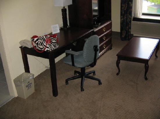 """Holiday Inn Express New Albany: half of suite """"living room"""""""
