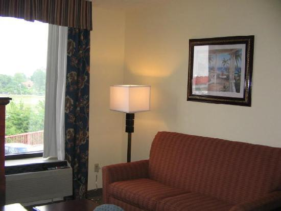 """Holiday Inn Express New Albany: other half of suite """"living room"""""""