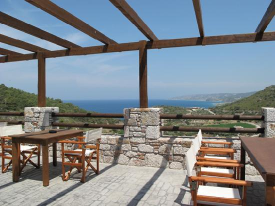 Auberge Kalopetri: View from the main terrace