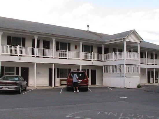 Cool Harbor Motel: Back parking and rooms
