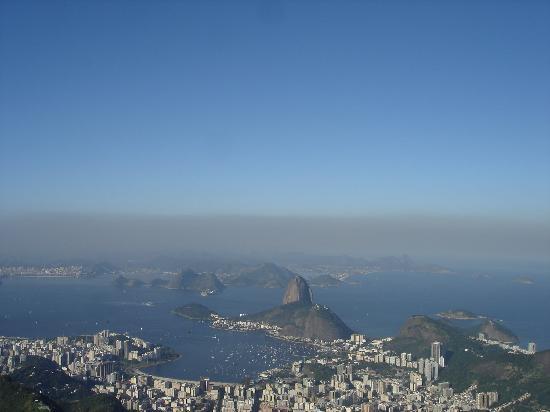 Orla Copacabana Hotel: Vista de Río de Janeiro desde el Cristo
