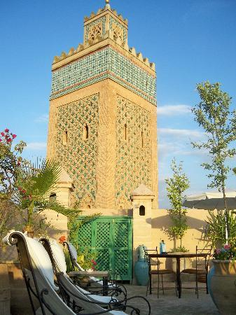 Dar Tasnime: View of the Kasbah minaret from the terrace