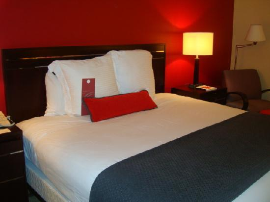 Hilton Orrington/Evanston: the other side of the room - king size bed