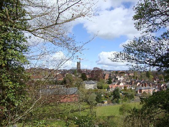 West Midlands, UK: Ludlow from a distance