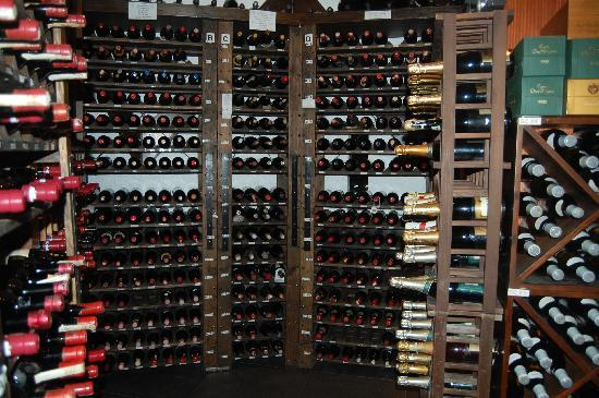 Yats Restaurant and Wine Bar: Part of wine room, about one fifth