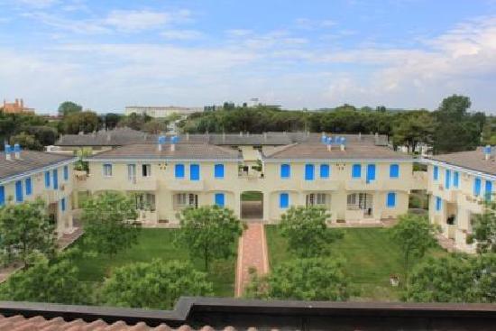 Hotel Junior: Blick auf die Appartements