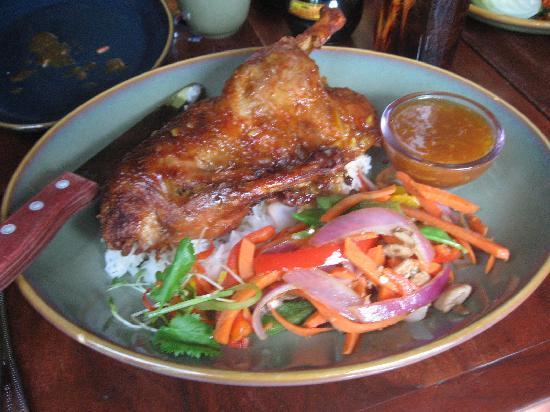 Yak and Yeti: duck with anandapur glaze