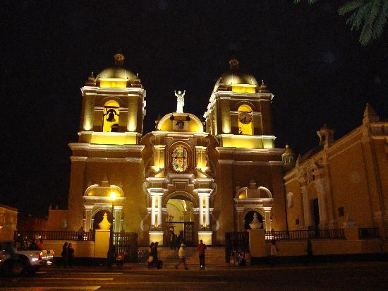 Cathedral in Trujillo's main plaza