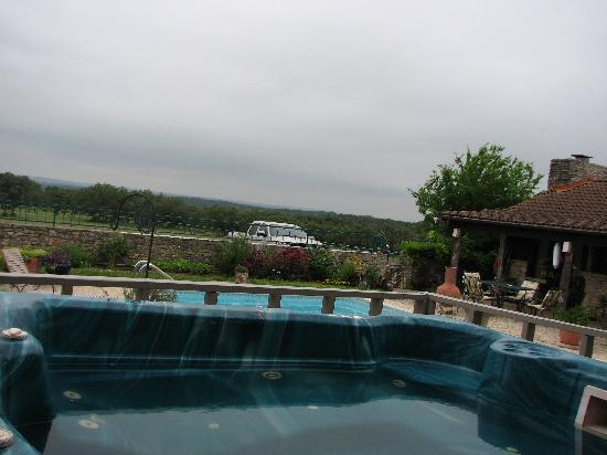 Canyon Lake Ranch: View from the hot tub!