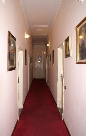 Franz House: hallway to our room