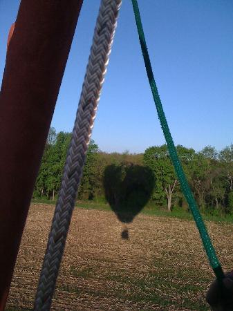 Bella Balloons Hot Air Balloon Co: Our balloon shadow