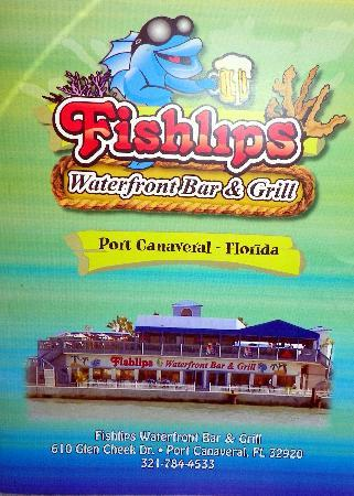 Port Canaveral, FL: Front of the Menu