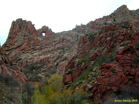 Shelf Road: Southern View of Window Rock, Northern End of Shelt Road.
