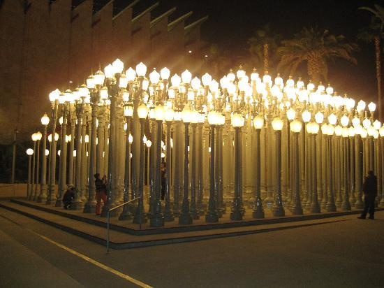 Los Angeles County Museum of Art: The cool light posts in front of museum
