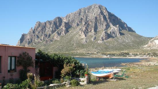 Custonaci, Italie : il promontorio visto da Cornino