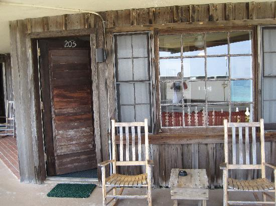 Driftwood Resort: our semi-private porch