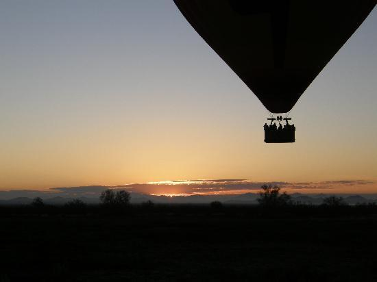 A Sunset flight with Hot Air Expeditions.