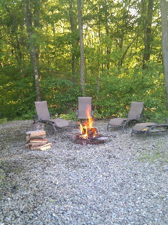 Crystal Springs Wilderness Lodges & RV Resort: nice shady and secluded site