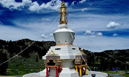 Red Feather Lakes, CO: The Great Stupa, the heart of Shambhala Mountain Center