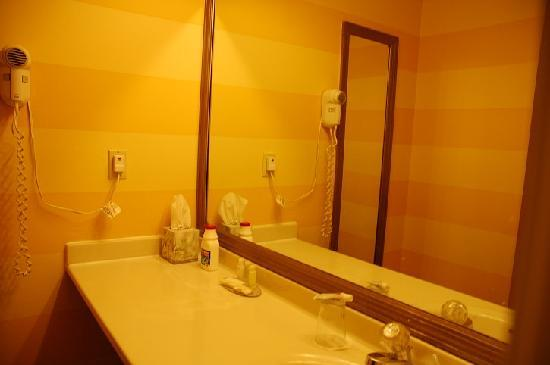 Hawthorn Suites by Wyndham Dayton North: Sink area