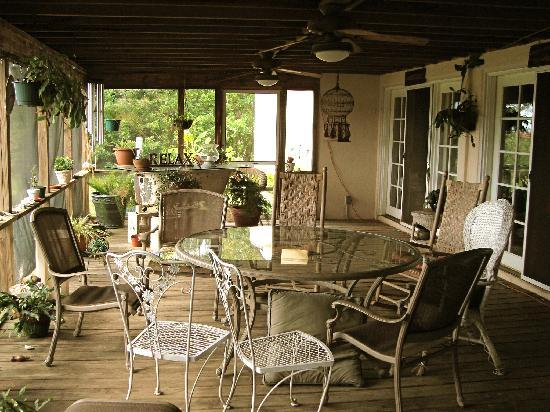 Blue Heron Inn: The downstairs patio, by the living room and kitchen
