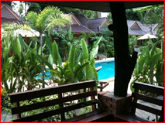 Sunda Resort : From the pool-view rooms