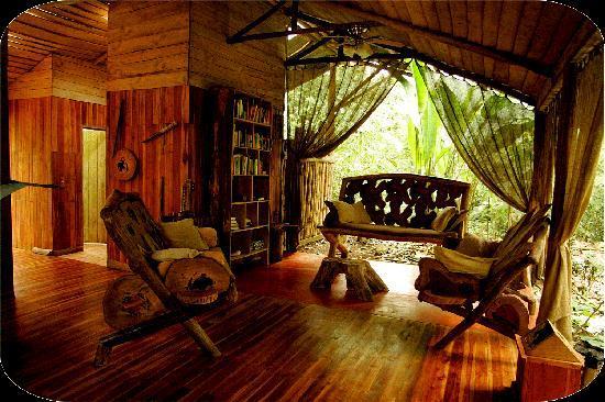 Danta Corcovado Lodge: Livingroom