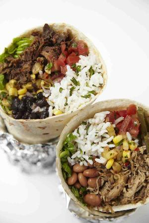 The Flying Burrito: beef and pork burrito at flying burrito, london