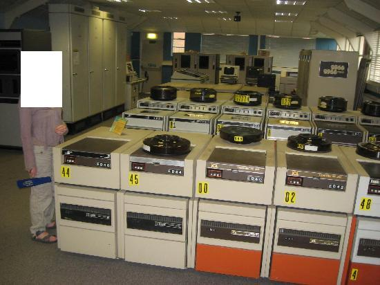 Bletchley Park: Bank of magnetic media readers