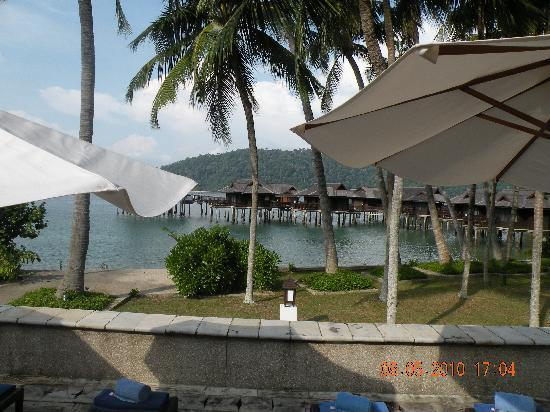 Pangkor Laut Resort: view from the pool