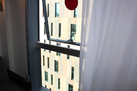 Novotel Barcelona City: View from window os Superior room