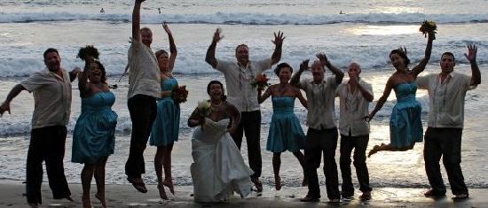 DoceLunas Hotel, Restaurant & Spa: wedding day on Playa Hermosa Beach