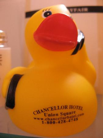 Chancellor Hotel on Union Square: Rubber ducky!
